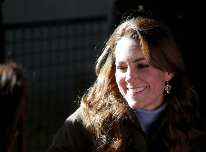 HRH The Duchess of Cambridge pictured at The Ark Open Farm in Newtownard