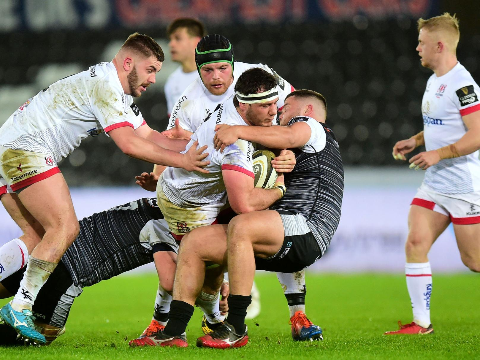 Ulster suffer narrow Guinness PRO14 loss to Ospreys in stormy Swansea.