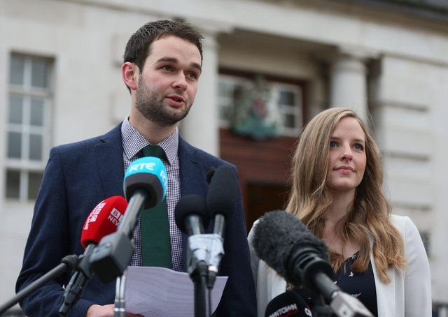 Daniel and Amy McArthur of Ashers, who spent four years locked in court proceedings over the so-called 'gay cake' row