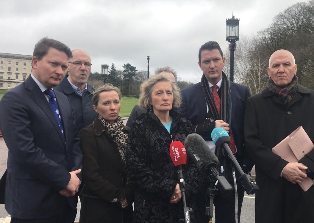 Finucane family says Brandon Lewis has said a decision on whether to hold Pat Finucane murder inquiry will be taken within weeks