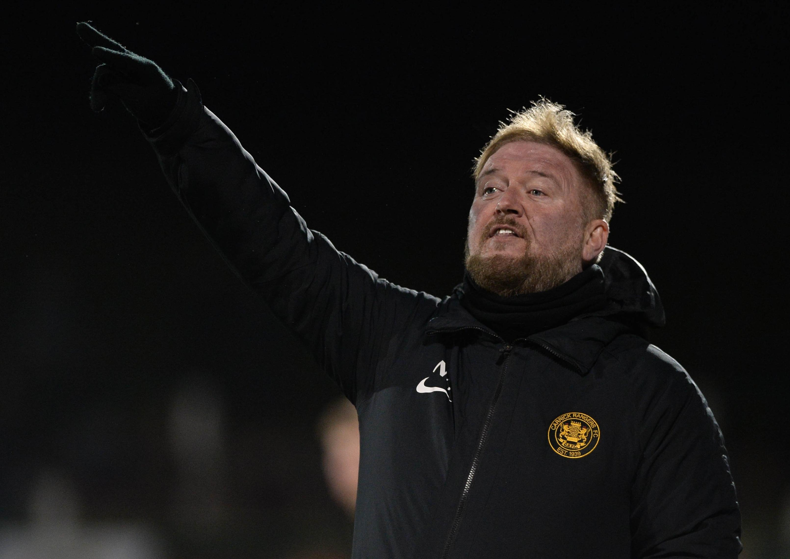 Carrick Rangers' Niall Currie keen to get over the line and secure senior 'dream'