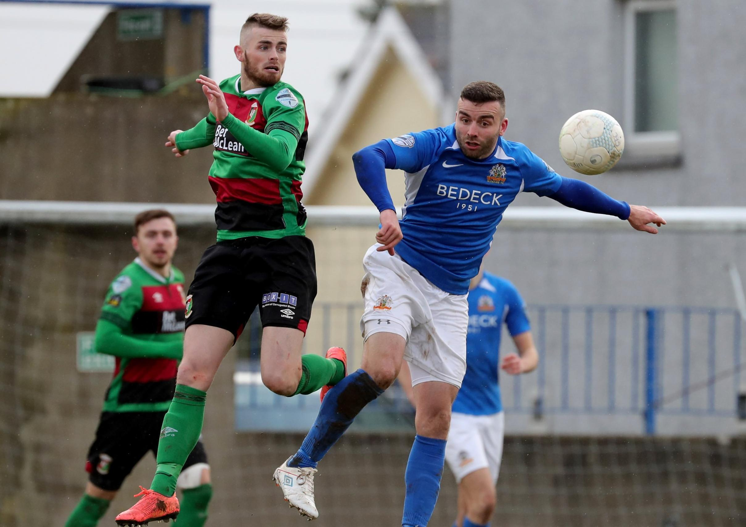 Glentoran's Paul Millar accepts 'massive' Linfield gap but vows to keep on fighting