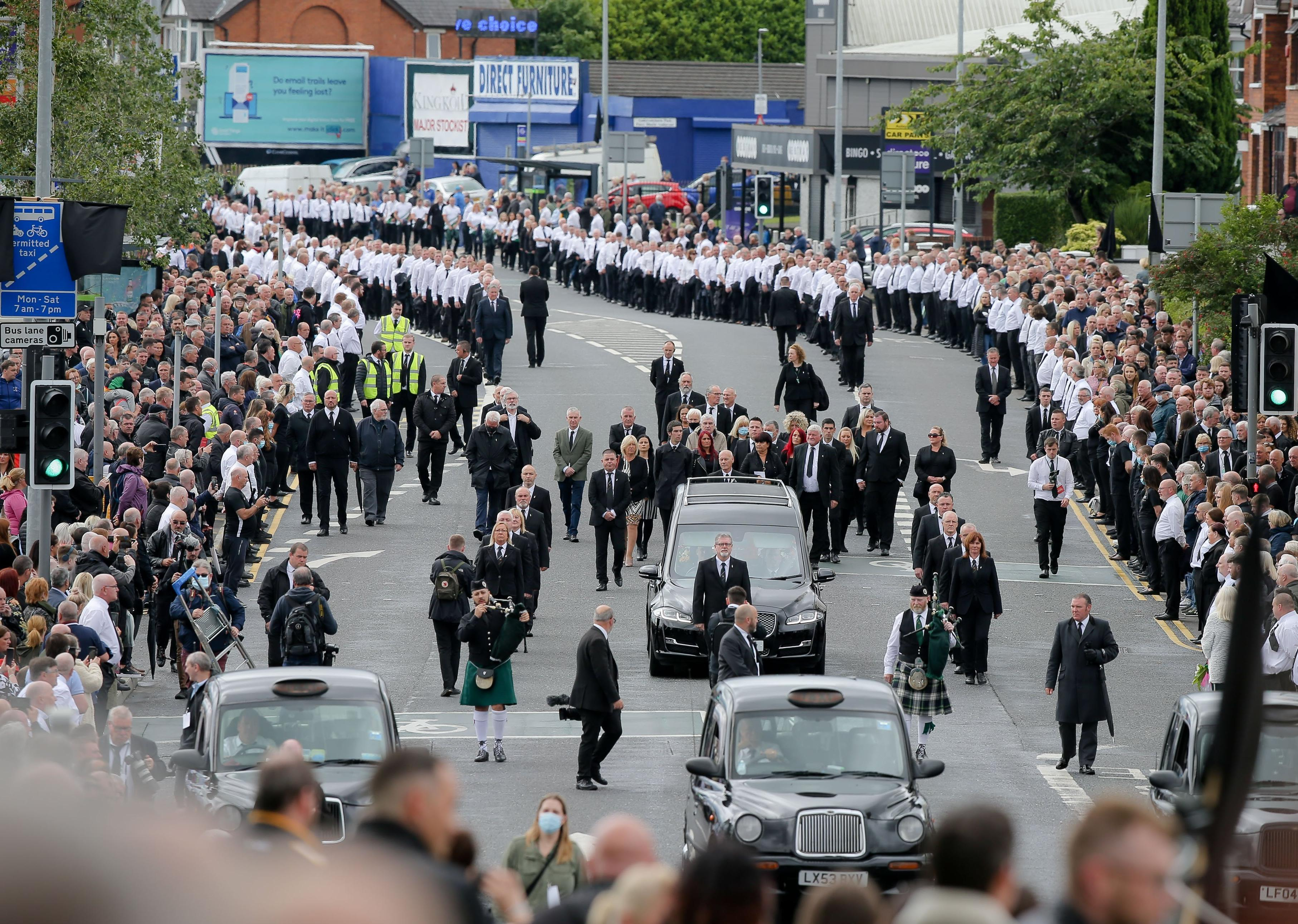 Bobby Storey funeral: Demands for Michelle O'Neill to quit grow while Foster says SF must 'make amends'