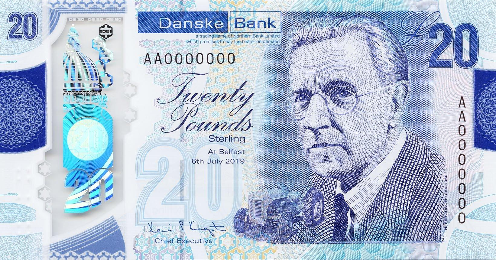 New 'plastic' £20 note to be introduced in NI this month - featuring inventor Harry Ferguson