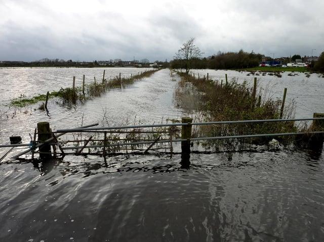 Flooded fields at River Bann, Portadown in 2009. Picture: Mavis Hazelton