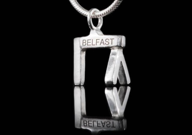 Harland and Wolff crane necklace by Ruth McEwan-Lyon