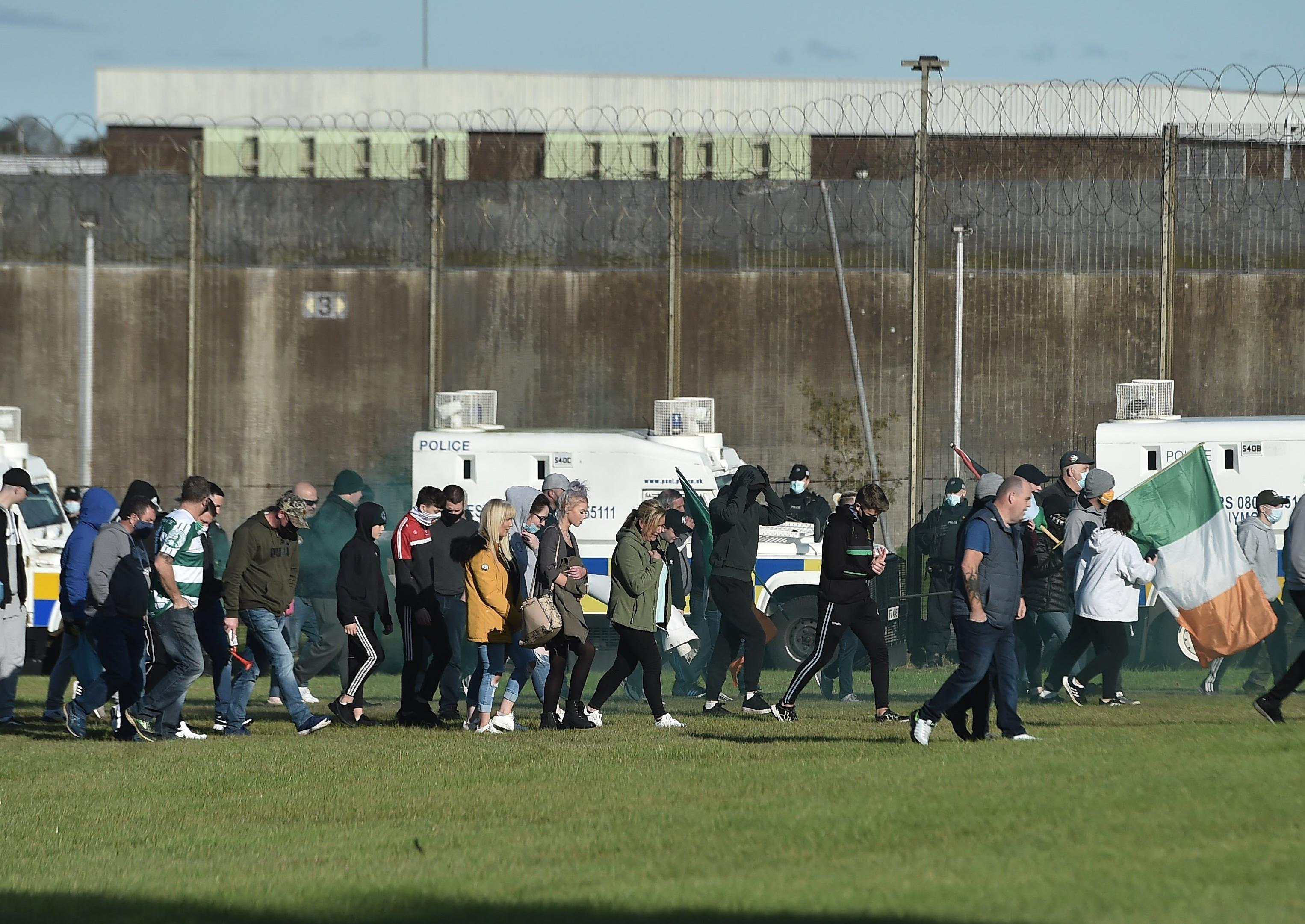 Police officer injured during dissident protest at Maghaberry Prison