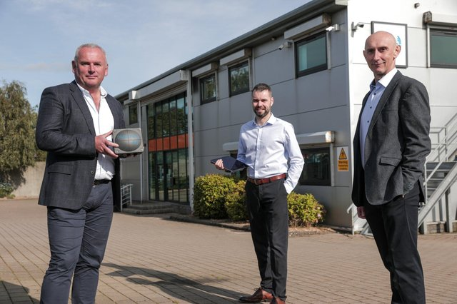 At the launch of Bluezone Technologies' 'no touch' Legionella management system are Adrian Byrne, CEO, David Sharkey, Technical Lead and Pat McDonald, Technical Director at Bluezone Technologies' Newry-based headquarters