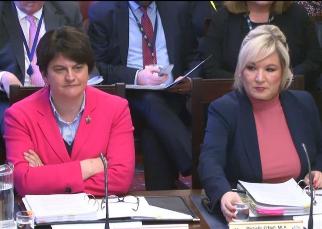 Arlene Foster and Michelle O'Neill lead the Executive Office, which has been advised by the Audit Office that its estimates are not reliable.