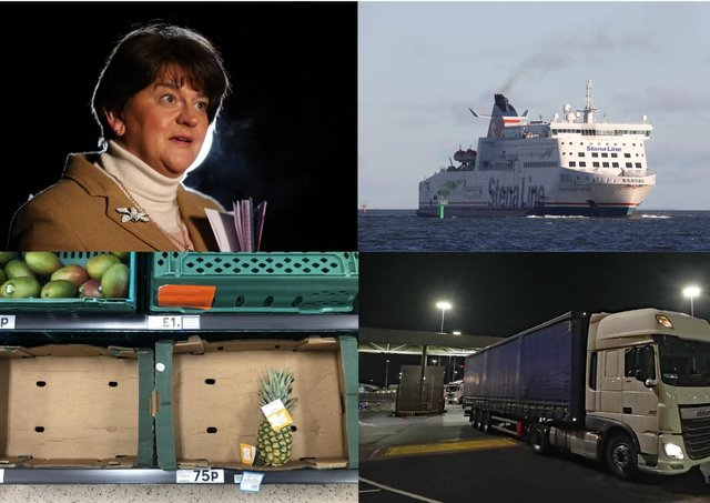 """Arlene Foster described border posts as """"mythical"""" prior to Brexit – but now that they are here she can't admit her huge strategic error"""