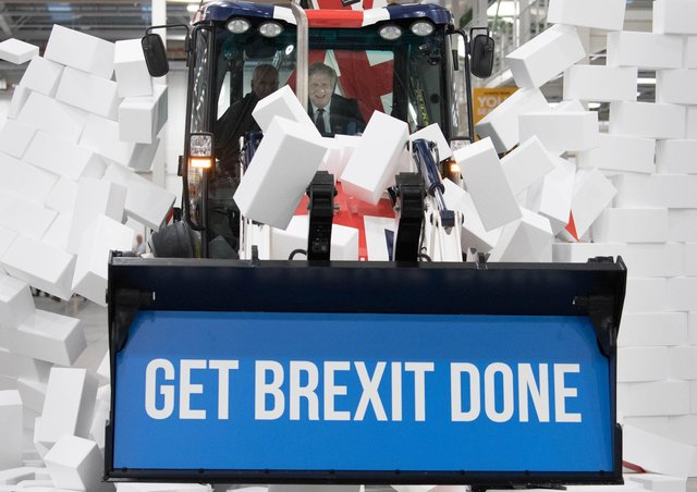 Boris Johnson used a JCB emblazoned with the words 'Get Brexit Done' for a PR stunt – but he couldn't bring the digger to NI without a 'wash certificate'