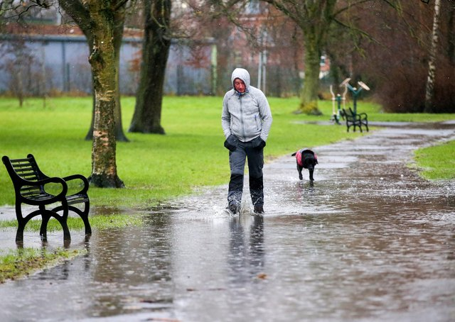 Press Eye - Belfast - Northern Ireland - 3rd February 2021Flooding on Balmoral Avenue in south Belfast after continuous rain overnight.  Picture by Jonathan Porter/PressEye