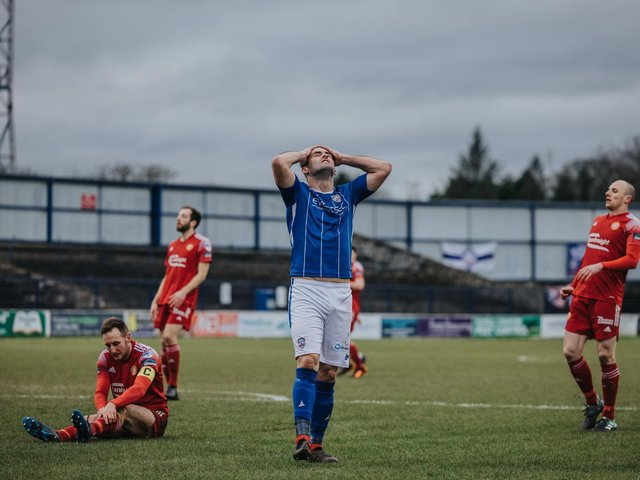 Eoin Bradley limped out of Saturday's game against Portadown. PICTURE: David Cavan