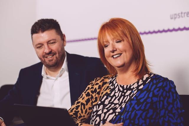 Alan Wardlow and Judith Totten MBE, Upstream