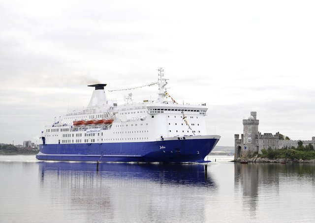 Cork harbour, which is one of a number of Irish ports that has services to mainland Europe. The EU could check goods on such routes, writes Mike Nesbitt