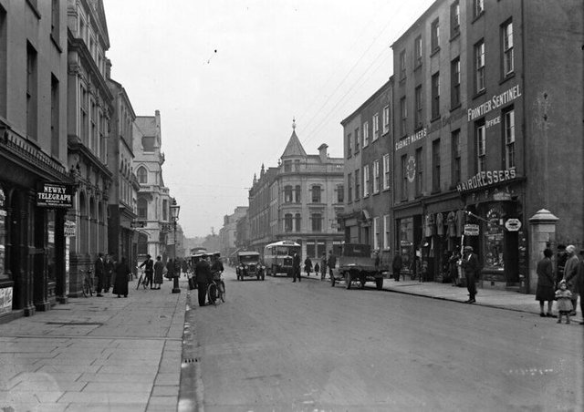 Hill Street in Newry, Co Down. NLI Ref: EAS_1453. Picture: National Library of Ireland