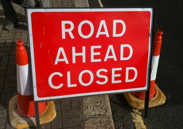 The road was closed for several hours following the collision