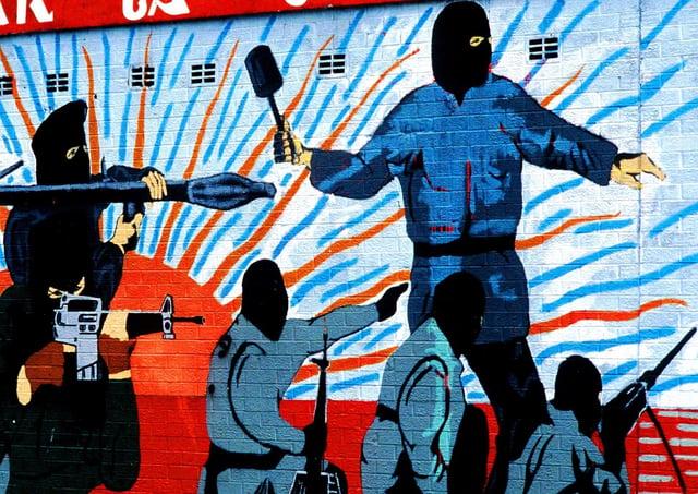 A republican terror mural