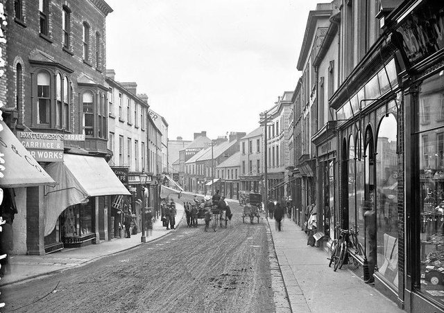 Church Street, Ballymena, Co Antrim. NLI Ref: L_ROY_11241. Picture: National Library of Ireland