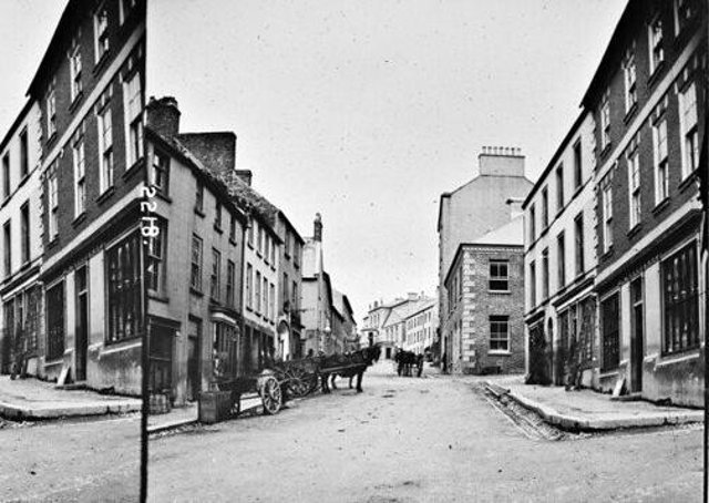 English Street, Downpatrick, Co Down. NLI Ref: STP_2218. Picture: National Library of Ireland