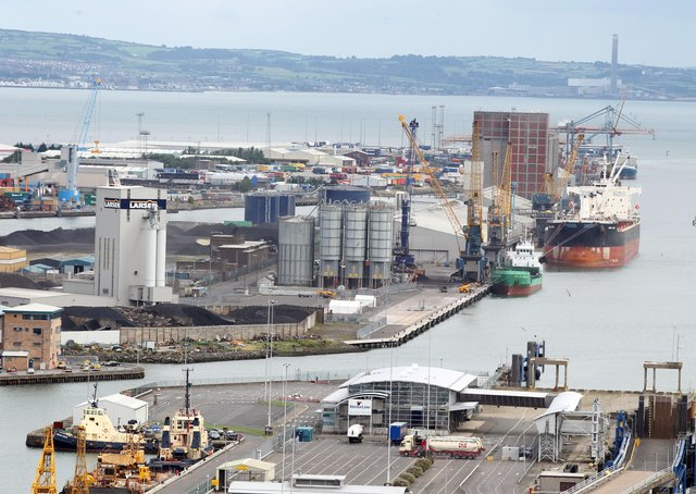 """Belfast docks, the """"magnificent"""" steamship City of Manchester had docked in Belfast this week in 1859 after sailing from Liverpool, reported the News Letter. Picture: Darren Kidd/Presseye.com"""