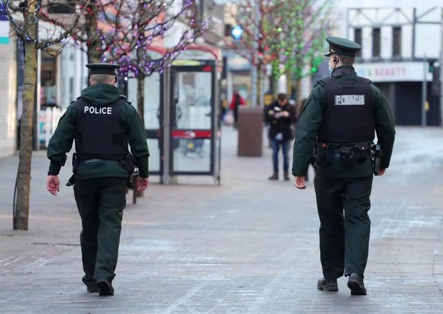 PSNI officers on patrol. Photo: Kelvin Boyes /  Press Eye.