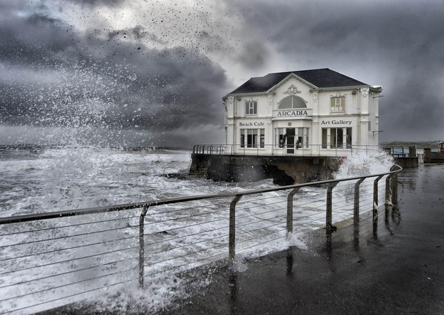 Portush, Co Antrim, pictured on a stormy day in December 2014. Picture: Russell Pritchard/Presseye