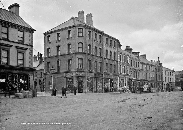 High Street, Portadown, Co Armagh. NLI Ref: L_ROY_09282. Picture: National Library of Ireland