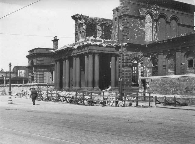 York Road Station after the 1941 Blitz