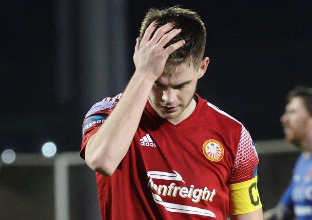Portadown captain Luke Wilson following Tuesday's defeat to Crusaders. Pic by Pacemaker.Portadown captain Luke Wilson following Tuesday's defeat to Crusaders. Pic by Pacemaker.