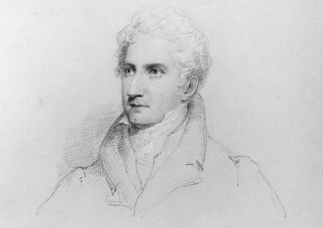 John Carr by William Brockedon, pencil and red chalk, 1832