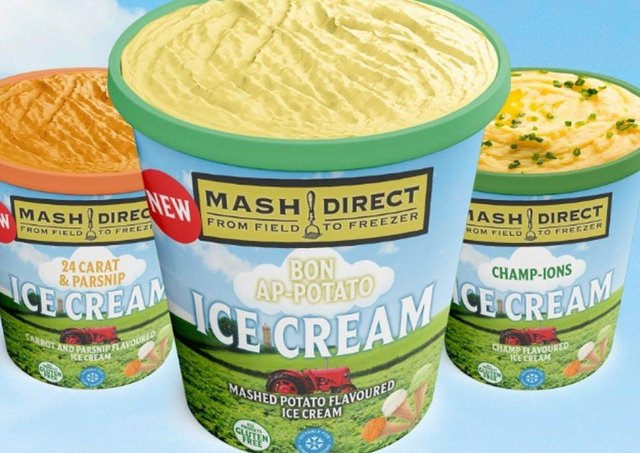 Mash Direct introduced three flavours of mash-infused ice cream