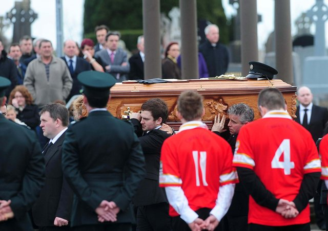 Ronan Kerr was given a guard of honour at his funeral by both his PSNI colleagues and GAA clubmates