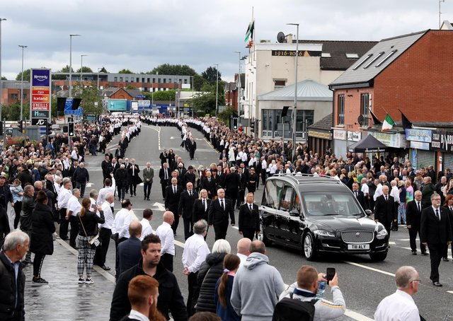The scenes at the Bobby Storey funeral caused a political furore