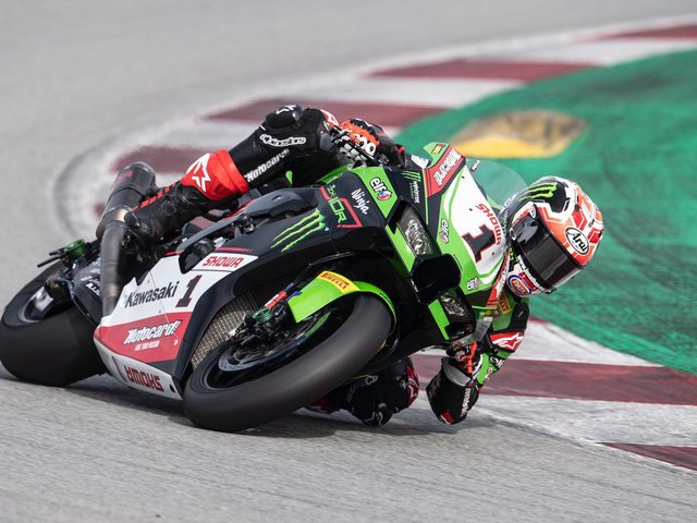 Jonathan Rea topped both days of the official World Superbike test at Catalunya in Barcelona on his new Kawasaki ZX-10RR.