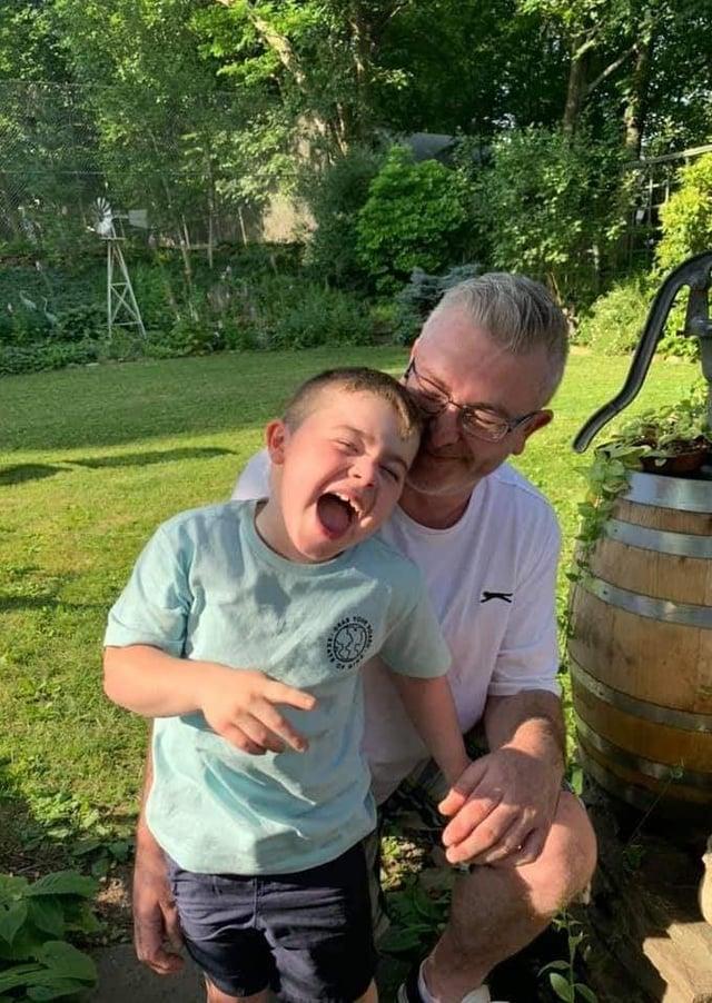Jamie Pentony and son Alfie
