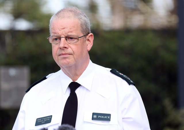PSNI Chief Constable Simon Byrne. Picture by Stephen Davison.
