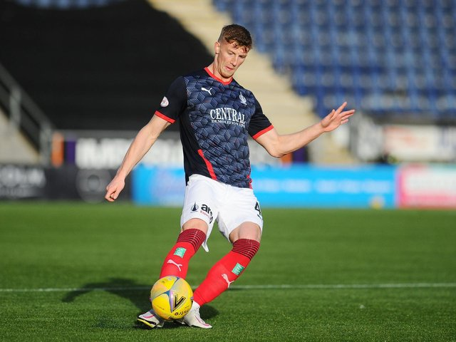 Ben Hall in action for Falkirk