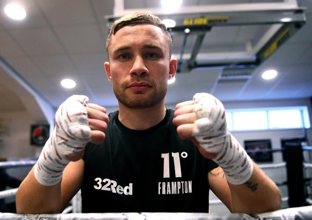 Carl Frampton is aiming to be Ireland's first three-weight world champion