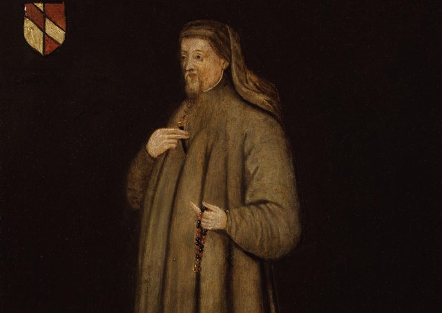 Many languages have loan words. Geoffrey Chaucer, pictured, who had a connection to Gaelic Ulster, wrote in the 14th century in the unfashionable Germanic/English dialect, in addition to writing in the more cultured French and Latin, thus helping forge modern English. Picture: National Portrait Gallery