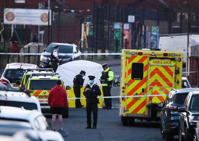 The scene in Ballymurphy where the seven-year-old was struck by a car and killed. Press Eye - Belfast