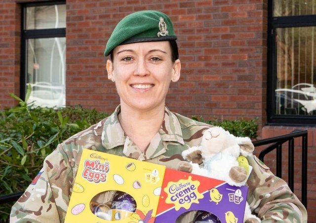 Staff Sergeant Deby Walsh had the idea to donate Easter gifts to the NI Children's Hospice