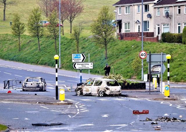 Press Eye - Clougfern Roundabout - Newtownabbey - 4th April 2021