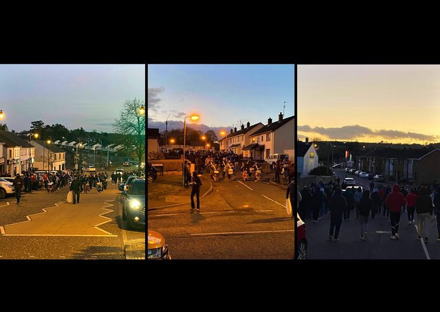 The band parade on Monday night in Markethill