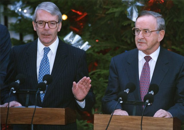 """The Downing Street Declaration of December 1993, agreed by Albert Reynolds and John Major, is the foundation on which the peace process was built, says John Bruton. """"'I would like to see Irish unity, but we must first build sustained reconciliation,"""" he writes"""