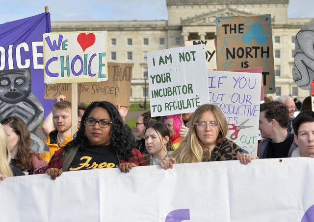 Alliance for Choice protestors pictured at Stormont last year