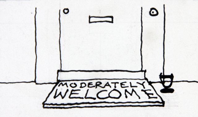 Fougasse's Moderately Welcome Doormat