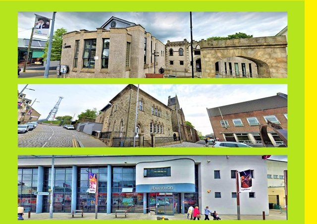 The three buildings to be lit up: The Bridewell, Ranfurly House, and Burnavon