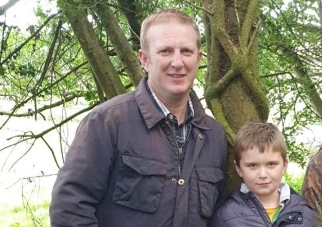 Co Tyrone poultry farmer Derek Robinson saved his six-year-old son Ben after he collapsed on their farm.