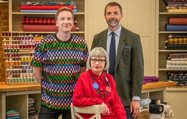 Joe Lycett, Esme Young and Patrick Grant